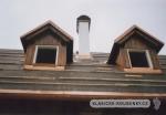 Střecha roubené stavby